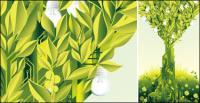 Vector de tema verde