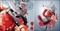Дискотеки, ночные клубы, танцевальные залы дизайн элементы вектора