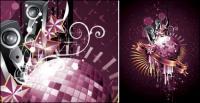 Disco, dance crystal ball Vector