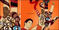Brésil, copie des œuvres de concepteur visuel