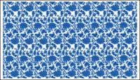 Синий и белый фарфор, синий и белый фарфор структура vector