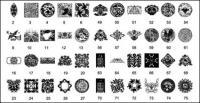 Kertas Cina tradisional pemotongan, totem vektor