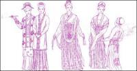 Тан костюм, китайская одежда