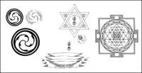 仏教のシンボルは、オブジェクトの図