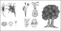 Буддизм ухо кукуруза, просо спреи, рис, Линден вектор