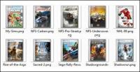คอมพิวเตอร์เกมและภาพยนตร์ครอบคลุม png ไอคอน -2