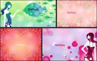 FESTIVAL Festivals weibliche Muster Vektor