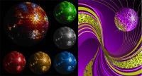 Boule de cristal Disco matériel vecteur