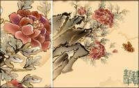 Borboleta, quadro de ano novo auspicioso flores
