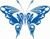 Matériau de mode vecteur de papillon