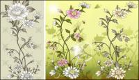 Flores, mariposas, pollos, gallinas, las abejas, saltamontes