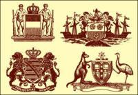 Estatuas, León, corona, Canguro, avestruz