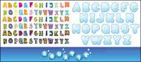 Material de vector de alfabeto