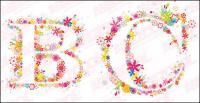 Vector de alfabeto de flores