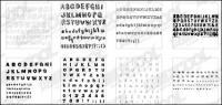 9 vor allem das englische Alphabet Vektor-material