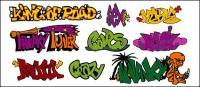 Fontes de arte do Graffiti-estilo, n º 145 material Vector