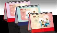 Kalender desain efek diagram vektor bahan