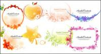 リボン、弓、リンゴ、葉、花