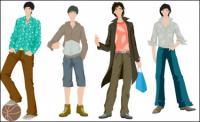 Мальчики моды вектор