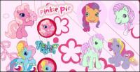 Pferd Pegasus cute Cartoon Blumen