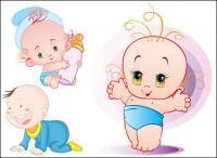 かわいい赤ちゃんのベクター素材