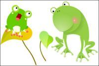 カエル、ベクトルの葉