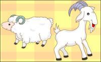 chèvres, moutons