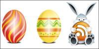 Icône de lapins, Pâques, oeuf