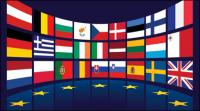 Drapeau de l'UE vecteur matériel