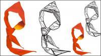 Logotipo de jóvenes pioneros - una bufanda Roja de material de vectores