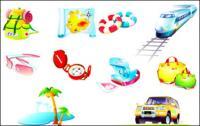 Пътнически стоки икона вектор