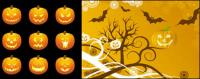 Хэллоуин тыква векторного материала