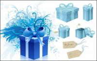 caja de regalo de copo de nieve de etiqueta