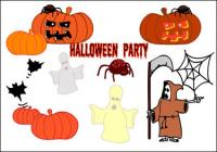 Dia das bruxas, fantasmas, abóboras, aranhas, morcegos