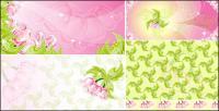 ดอกไม้สีชมพูเวกเตอร์