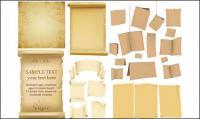 Antigo papel, papel kraft, livros antigos de material vector