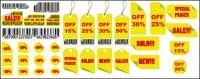 Matériel de vente Tag vecteur jaune