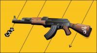 Vektor AK47 senapan