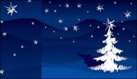 손으로 그린 브러쉬 스트로크 크리스마스 트리 벡터 자료