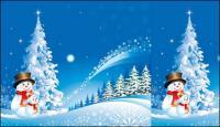 Material de Natal Snowman neve Vector