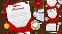 Matériau de Desktop vecteur de cartes de voeux Noël