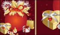 Weihnachten, Bänder, Bögen, Geschenk, Vektor