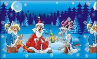 Louco Santa Claus vector