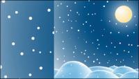 Снег векторного материала -2