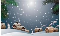 Material de neve vetor -1