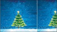 Schnee Baum-Vektor-material