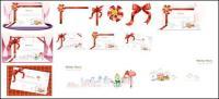 절묘 한 크리스마스 카드 인사말 3 차원 벡터 자료