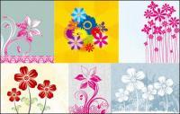 Flores pintados a mano de vectores