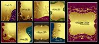 O tema do material de vetor padrão ouro