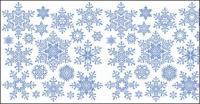 vecteur de flocon de neige -2 matériaux